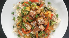 Orange-Glazed Pineapple Tofu Stir-Fry