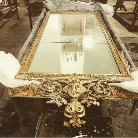antique gilt frame restoration