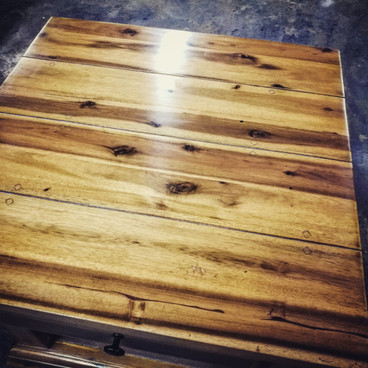 Solid timber furniture stripped clear stain sealer