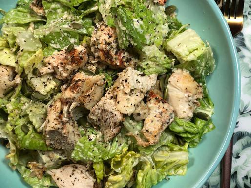 Super Seed Chicken Caesar Salad