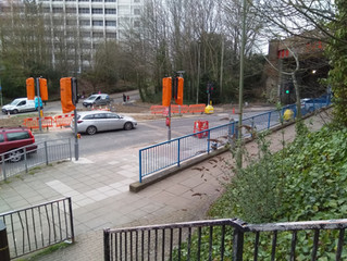 Shared use cycle way being built on Chapel Hill