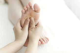 Photo of person having reflexology