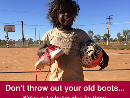 """Their Beautiful Game"" - Don't throw out your old boots!"