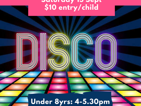 WPFC Junior Disco – Saturday 15th September