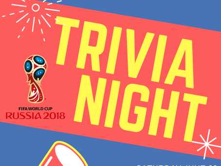 Trivia Night - Saturday, 23rd June 2018
