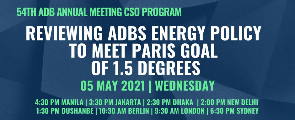 Reviewing ADBs Energy Policy to meet Paris Goal of 1.5 Degrees