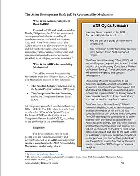 The Asian Development Bank (ADB) Account