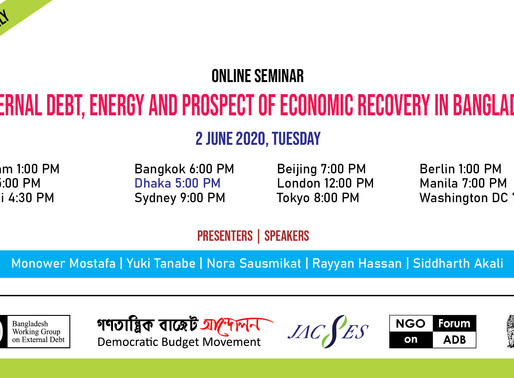 Online Seminar on External Debt, Energy and Prospect of Economic Recovery in Bangladesh