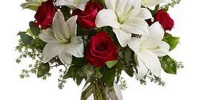 Ramo liliums y rosas