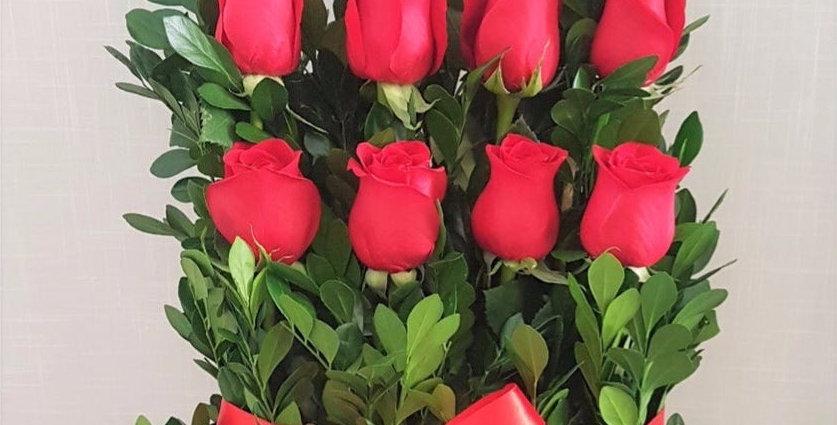 Paralelo 12 rosas en base