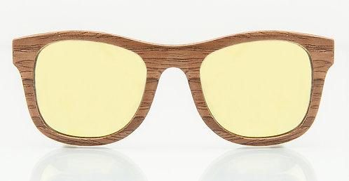 Kyoto Walnut Yellow Mirror Lens