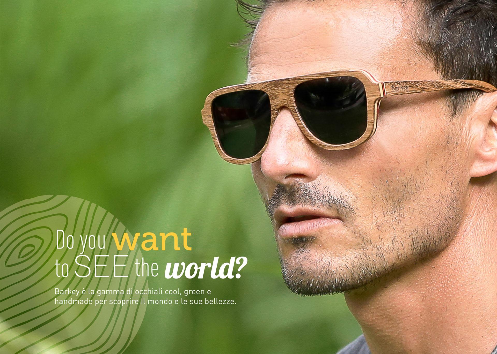 barkey occhiali da sole in legno