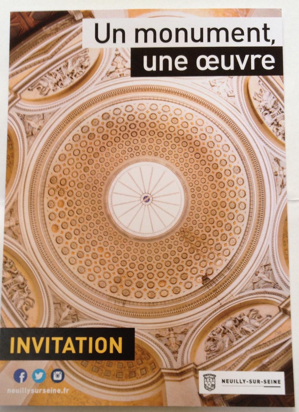 Vernissage Vendredi 18 septembre 2015 à partir de 19h Théâtre des Sablons Neuilly sur Seine