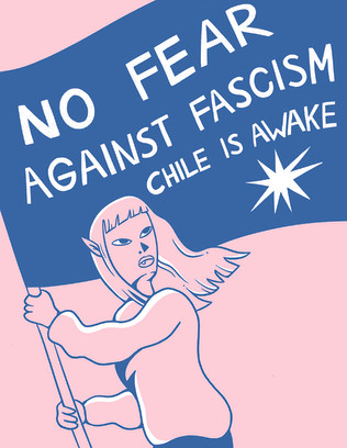 No fear against fascism. Chile is awake