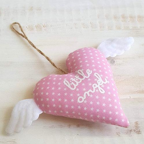Coração com asinhas *little angel*