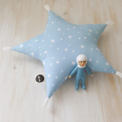 Almofada azul *estrelas*