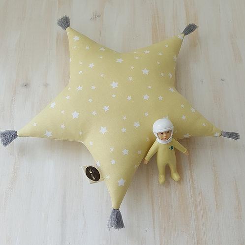 Almofada amarela *estrelas*