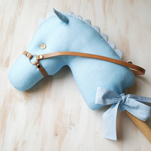 Cavalinho de Pau azul claro