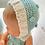 Thumbnail: Boneca com touca e fofo azul água/ crú