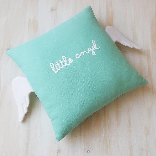 Almofada *Little Angel* Verde Menta