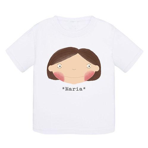 T-shirt branca Menina