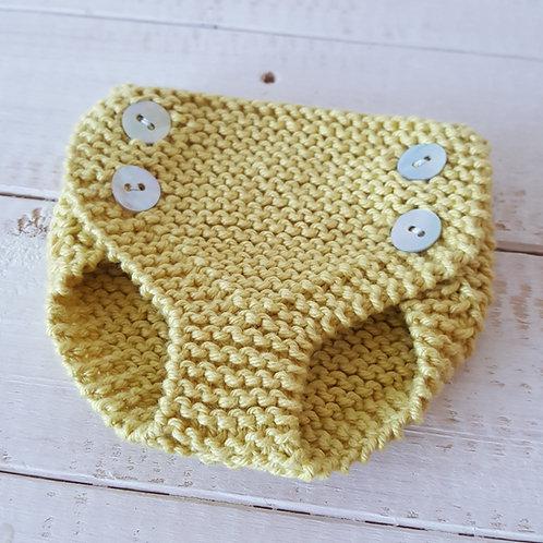 Pack touca+ tapa fraldas amarelo