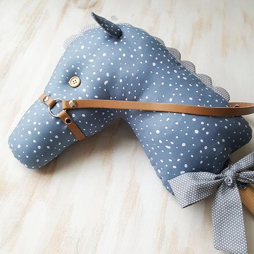 Cavalinho de Pau azul e cinzento