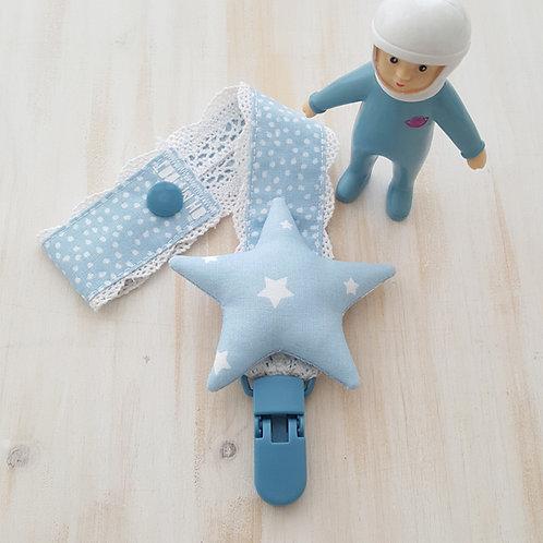 Fita de Chupeta azul *estrelas*