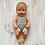 Thumbnail: Boneca  com touca e fofo cinza/ crú