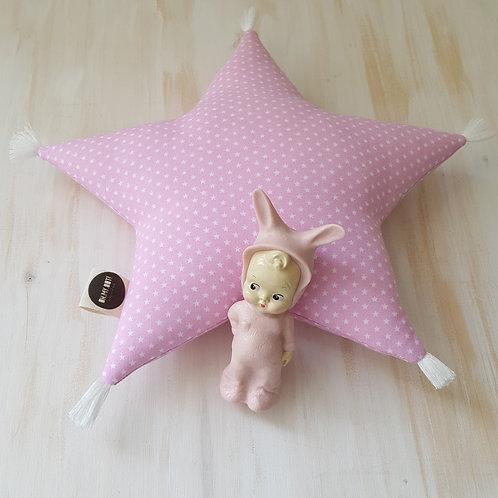 Almofada rosa *estrelinhas*