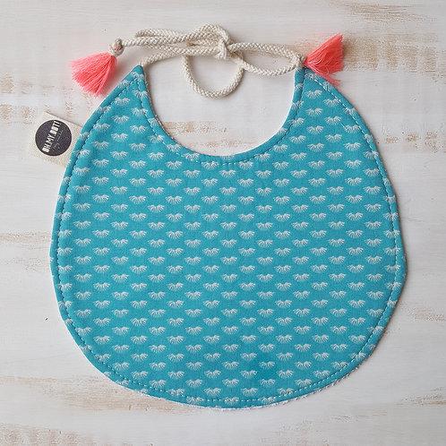 Babete azul turquesa
