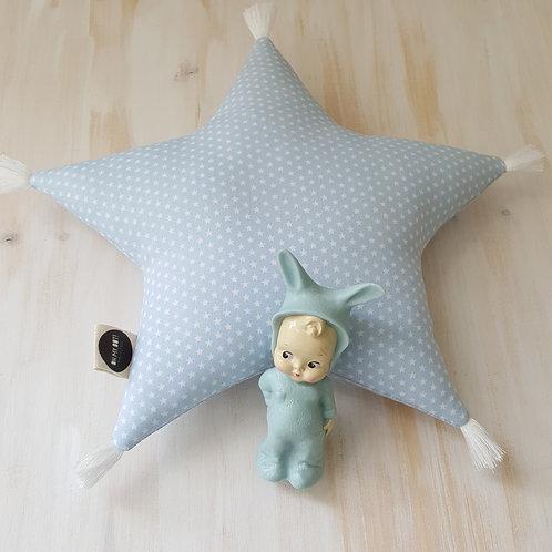 Almofada azul *estrelinhas*