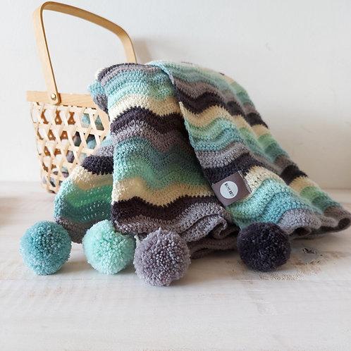 """Manta de bébé """"ripple"""" multicolorida"""