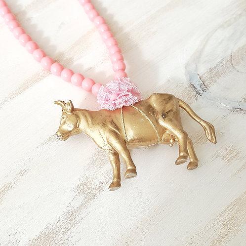Colar Vaca rosa claro*rosa claro