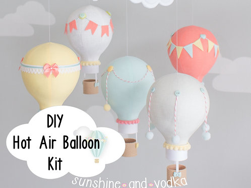 DIY Hot Air Balloon Baby Mobile Kit, i100