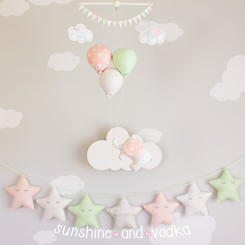 Star Nursery Banner, Sweet Dreams Sleeping Stars
