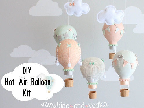 DIY Hot Air Balloon Baby Mobile Kit, i157