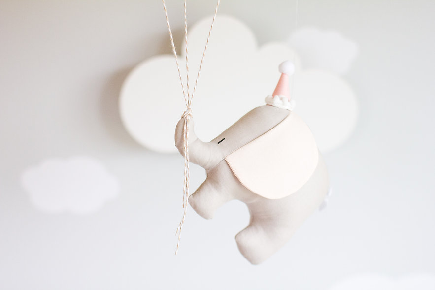 Pink and Taupe Baby Mobile.jpg