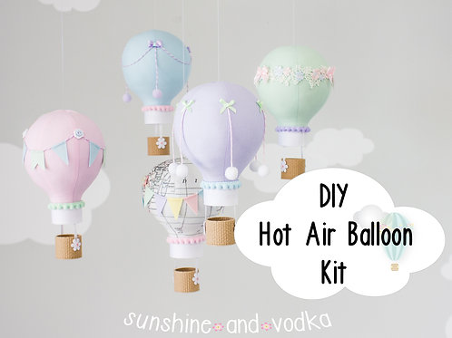 DIY Hot Air Balloon Baby Mobile Kit, i256