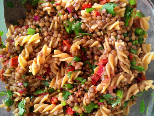 Liver Happy Lentil & Sun Dried Tomato Pasta Salad (V, GF)