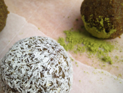 Green Monster Matcha Energy Balls