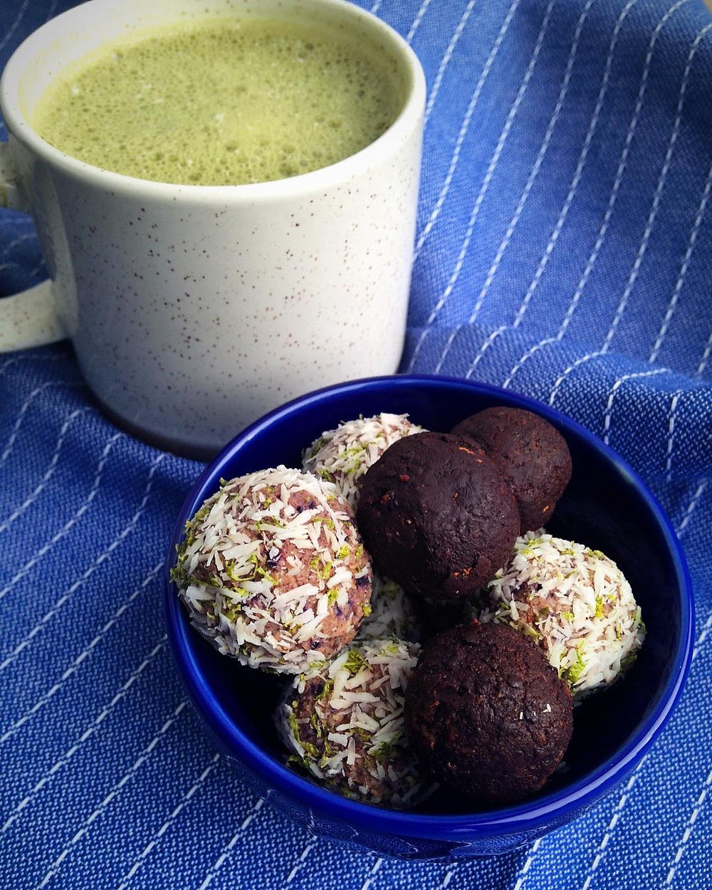 Matcha Tea with Blood Sugar Balancing Treats