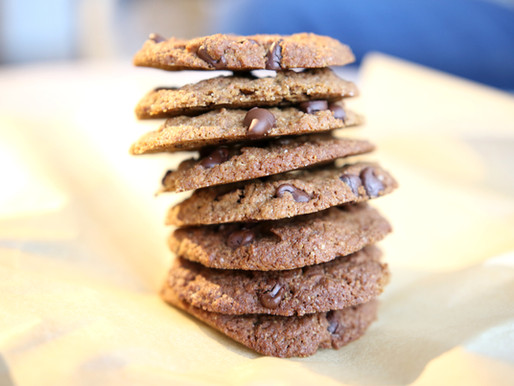 Grain-Free and Nut-Free Tahini Chocolate Chip Cookies