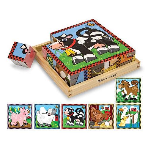 Melissa & Doug - Farm Cube Puzzle