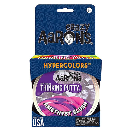 "Crazy Aaron's Thinking Putty - 4"" Hypercolor - Amethyst Blush"