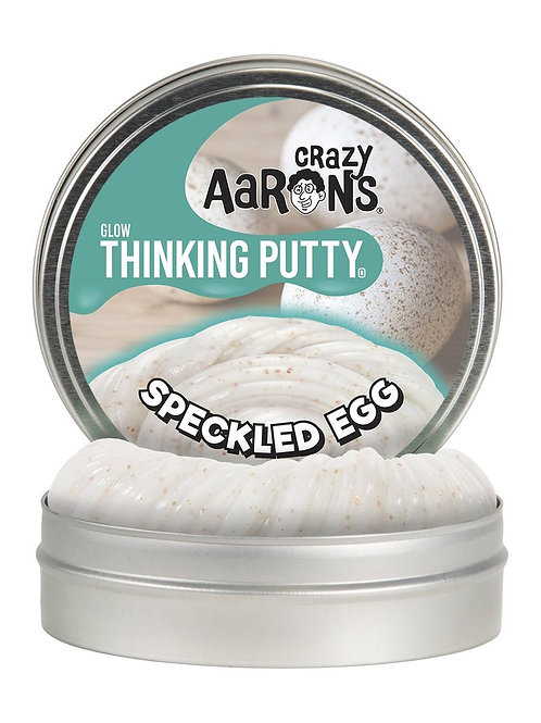 "Crazy Aaron's Thinking Putty - 4"" Speckled Egg - Glow"