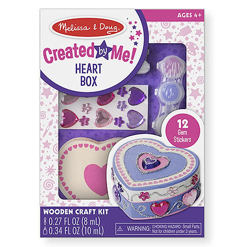 Melissa & Doug - Created by Me! Heart Box Wooden Craft Kit