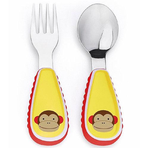 Skip Hop - Zootensils Fork & Spoon Set -  Monkey