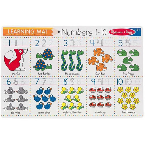Melissa & Doug - Learning Mat Numbers 1-10