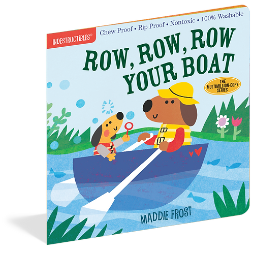 Workman Publishing - Indestructibles - Baby Books -Row Row Row Your Boat